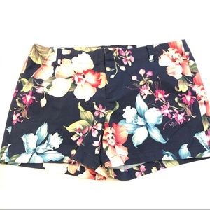 NWT Navy Blue Floral Tropical Short